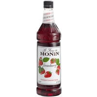 Monin 1 Liter Premium Strawberry Flavoring / Fruit Syrup