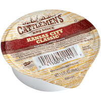Cattlemen's 1.5 oz. Kansas City Classic Barbecue Sauce Dipping Cup - 96/Case