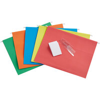 Pendaflex 81663 Assorted Color Letter Size 1/5 Cut Recycled Hanging Folder - 25/Box