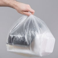 7-10 Gallon 6 Micron 24 inch x 24 inch Lavex Janitorial High Density Can Liner / Trash Bag - 1000/Case