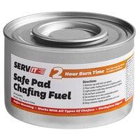 ServIt 2 Hour Wick Chafing Dish Fuel with Safe Pad - 24/Case