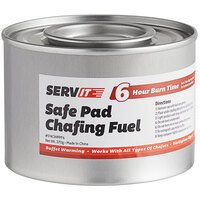 ServIt 6 Hour Wick Chafing Dish Fuel with Safe Pad - 24/Case