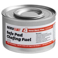 ServIt 4 Hour Wick Chafing Dish Fuel with Safe Pad - 24/Case