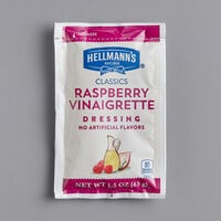 Hellmann's 1.5 oz. Raspberry Vinaigrette Dressing Packet - 102/Case