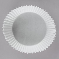 White Fluted Jumbo Baking Cup 3 1/2 inch x 1 1/2 inch - 5000/Case