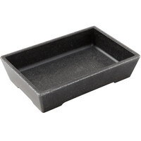 American Metalcraft GGB96 Grab & Go 25.5 oz. Black Speckled Rectangular Melamine Bowl