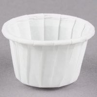 Solo SCC050 0.5 oz. White Paper Souffle / Portion Cups - 250/Pack