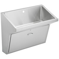 Elkay EWSFAD136201 Stainless Steel Wall Hung Single Bowl ADA Surgeon Scrub Sink - 33 inch x 16 1/2 inch x 6 1/2 inch Bowl