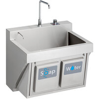 Elkay EWSF13026KWSC Stainless Steel Wall Hung Single Bowl Surgeon Scrub Sink Kit with Hands-Free Operation - 26 inch x 16 1/4 inch x 11 inch Bowl