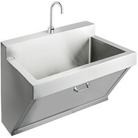 Elkay EWSF13026SACC Stainless Steel Wall Hung Single Bowl Surgeon Scrub Sink Kit - 26 inch x 16 1/4 inch x 11 inch Bowl