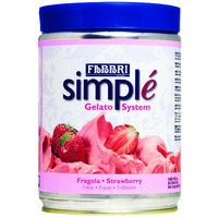 Fabbri 1.5 kg Strawberry Simple One-Step Soft Serve / Frozen Dessert Mix