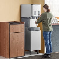 Scotsman HID312AB-1 Meridian 16 1/4 inch Air Cooled Nugget Ice Machine with 12 lb. Bin, Push Button Ice and Water Dispensing, and Enclosed Stand - 115V, 260 lb.