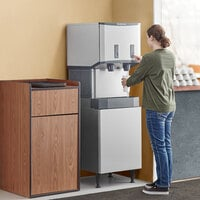Scotsman HID525AB-1 Meridian 21 1/4 inch Air Cooled Nugget Ice Machine with 25 lb. Bin, Push Button Ice and Water Dispensing and Enclosed Stand - 115V, 500 lb.