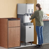 Scotsman HID312AB-1 Meridian 16 1/4 inch Air Cooled Nugget Ice Machine with 12 lb. Bin, Push Button Ice and Water Dispensing, and Cabinet Stand - 115V, 260 lb.