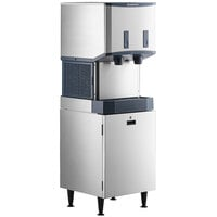 Scotsman HID525AB-1 Meridian 21 1/4 inch Air Cooled Nugget Ice Machine with 25 lb. Bin, Push Button Ice and Water Dispensing, and Cabinet Stand - 115V, 500 lb.