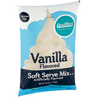 Frostline 6 lb. Vanilla Soft Serve Ice Cream Mix - 6/Case