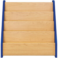Tot Mate TM2132A.S3322 Royal Blue and Maple Laminate 4 Level Book Display - 24 inch x 14 inch x 24 1/2 inch