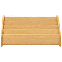 Tot Mate TM2131A.S2222 Maple Laminate 4 Level Book Display - 32 1/2 inch x 14 inch x 15 1/2 inch