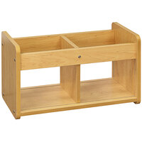 Tot Mate TM2181A.S2222 Maple Laminate Book / Toy Storage - 24 inch x 12 inch x 14 inch