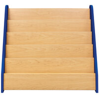 Tot Mate TM2133A.S3322 Royal Blue and Maple Laminate 5 Level Book Display - 32 1/2 inch x 14 inch x 29 inch