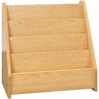 Tot Mate TM2132A.S2222 Maple Laminate 4 Level Book Display - 24 inch x 14 inch x 24 1/2 inch