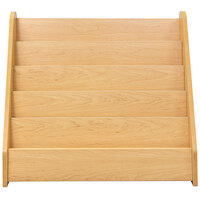 Tot Mate TM2133A.S2222 Maple Laminate 5 Level Book Display - 32 1/2 inch x 14 inch x 29 inch
