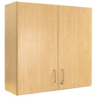 Tot Mate TMW301R.S2222 Maple 4-Compartment Wall Cabinet - 37 inch x 14 1/2 inch x 36 1/2 inch; Unassembled