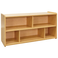 Tot Mate TM2202R.S2222 Maple Laminate Toddler Compartment Storage - 46 inch x 15 inch x 23 1/2 inch; Unassembled
