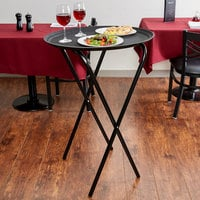 Lancaster Table & Seating 20 inch x 16 1/2 inch x 36 inch Folding Tray Stand Black Metal