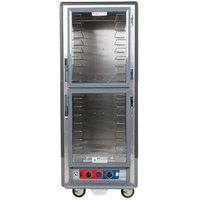 Metro C539-CDC-4-GY C5 3 Series Heated Holding and Proofing Cabinet with Clear Dutch Doors - Gray
