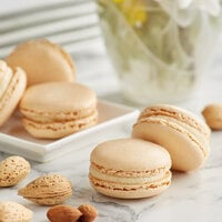 White Toque French Almond Macarons - 105/Case