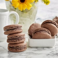 White Toque French Chocolate Macarons - 105/Case