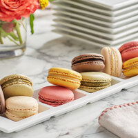 White Toque French Signature Assorted Macarons - 105/Case