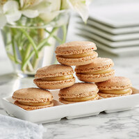 White Toque French Cookies & Cream Macarons - 105/Case