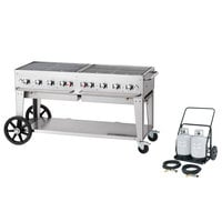 Crown Verity MCC-60 60 inch Mobile Outdoor Charbroiler Complete Set - 129,000 BTU