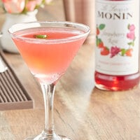 Monin 750 mL Premium Strawberry Rose Flavoring Syrup