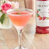 Monin 1 Liter Premium Strawberry Rose Flavoring Syrup