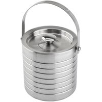 Tablecraft 10700 Double Wall Stainless Steel 1.7 Qt. Ice Bucket with Lid
