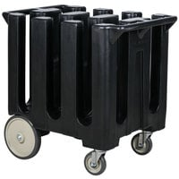 Cambro DC700110 Poker Chip Black Dish Dolly / Caddy with Vinyl Cover - 6 Column