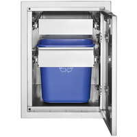 Crown Verity IBILC-GH-1D Infinite Series Large Built-In Cabinet with Garbage Holder and Single Drawer