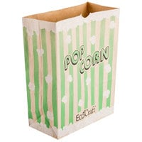 Bagcraft Packaging 300613 7 1/2 inch x 3 1/2 inch x 9 inch 130 oz. EcoCraft Popcorn Bag - 500/Case