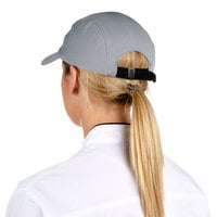 Headsweats Gray Customizable 5-Panel Chef Cap with Eventure Fabric and Terry Sweatband