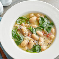 Del Destino 70 oz. Giant White Beans in Vinaigrette Sauce - 6/Case