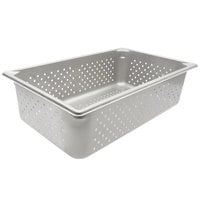 Vollrath 30063 Super Pan V® Full Size 6 inch Deep Anti-Jam Perforated Stainless Steel Steam Table / Hotel Pan - 22 Gauge