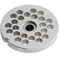 Avantco MG1247 #12 Stainless Steel Grinder Plate for MG12 Meat Grinder - 5/16 inch
