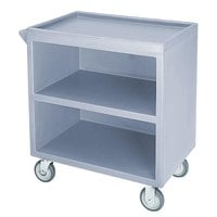 Cambro BC3304S401 Slate Blue Three Shelf Service Cart with Three Enclosed Sides - 33 1/8 inch x 20 inch x 34 5/8 inch