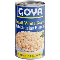 Goya 47 oz. Small White Beans - 12/Case