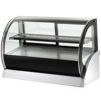 Vollrath 40856 48 inch Curved Glass Heated Countertop Display Cabinet