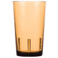 Cambro D8609 Del Mar 8 oz. Light Amber Customizable SAN Plastic Tumbler - 36/Case