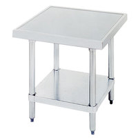Advance Tabco SAG-MT-363 36 inch x 36 inch Stainless Steel Mixer Table with Stainless Steel Undershelf